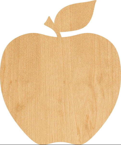 Apple Wooden Laser Cut Out Shape - Great for Crafting - Hobbyist - D.I.Y. Projects
