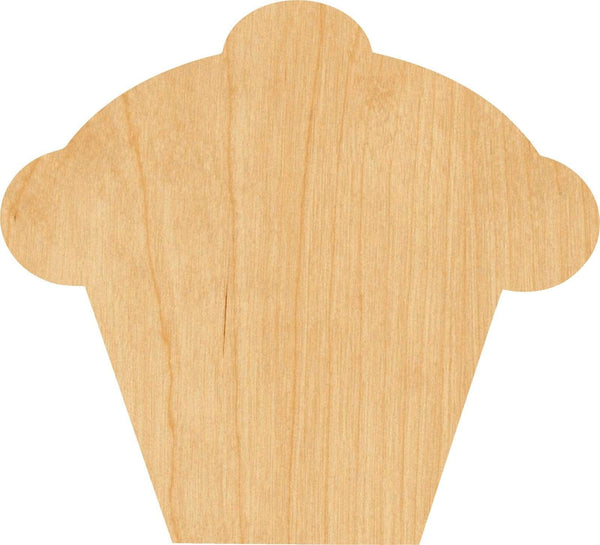 Cupcake 1 Wooden Laser Cut Out Shape - Great for Crafting - Hobbyist - D.I.Y. Projects