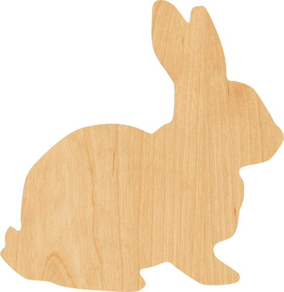 Bunny Wooden Laser Cut Out Shape - Great for Crafting - Hobbyist - D.I.Y. Projects