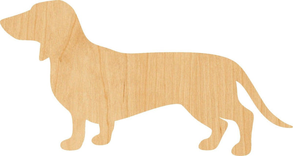 Dachshand Dog Wooden Laser Cut Out Shape - Great for Crafting - Hobbyist - D.I.Y. Projects