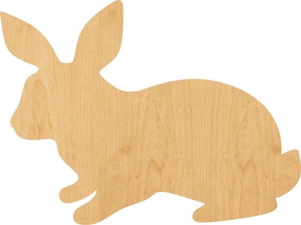 Rabbit Wooden Laser Cut Out Shape - Great for Crafting - Hobbyist - D.I.Y. Projects