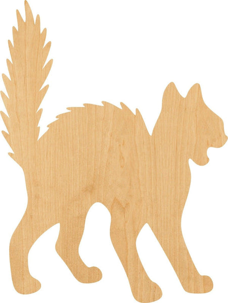 Scary Cat Wooden Laser Cut Out Shape - Great for Crafting - Hobbyist - D.I.Y. Projects