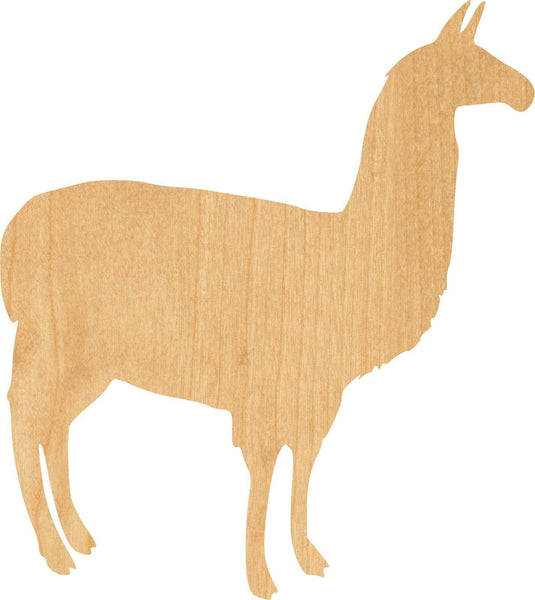 Alpaca Wooden Laser Cut Out Shape - Great for Crafting - Hobbyist - D.I.Y. Projects