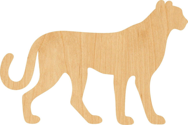 Cheetah Wooden Laser Cut Out Shape - Great for Crafting - Hobbyist - D.I.Y. Projects
