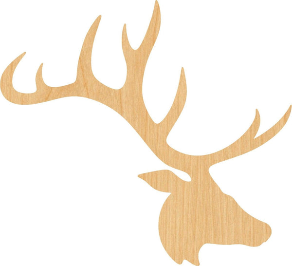 Elk Head Wooden Laser Cut Out Shape - Great for Crafting - Hobbyist - D.I.Y. Projects