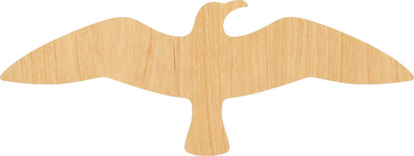 Flying Seagull Wooden Laser Cut Out Shape - Great for Crafting - Hobbyist - D.I.Y. Projects