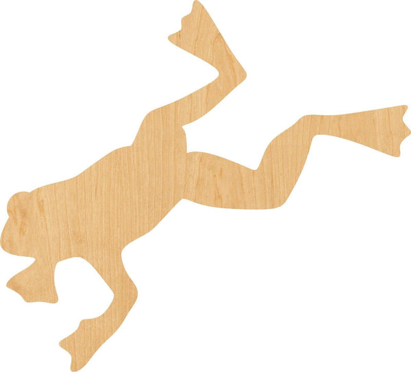 Jumping Frog Wooden Laser Cut Out Shape - Great for Crafting - Hobbyist - D.I.Y. Projects
