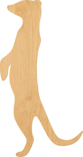 Meerkat Wooden Laser Cut Out Shape - Great for Crafting - Hobbyist - D.I.Y. Projects