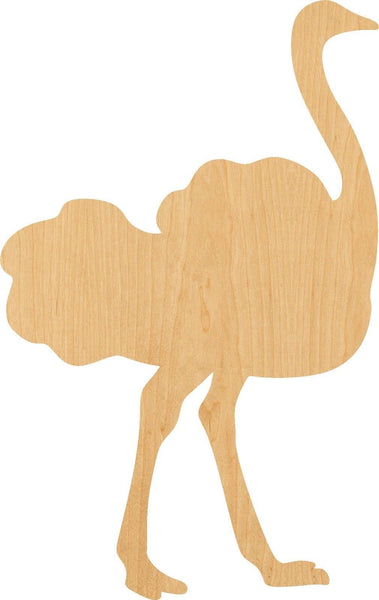 Ostrich Wooden Laser Cut Out Shape - Great for Crafting - Hobbyist - D.I.Y. Projects