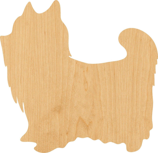 YorkShire Terrier Wooden Laser Cut Out Shape - Great for Crafting - Hobbyist - D.I.Y. Projects
