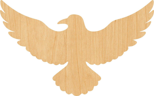 Flying Raven Wooden Laser Cut Out Shape - Great for Crafting - Hobbyist - D.I.Y. Projects