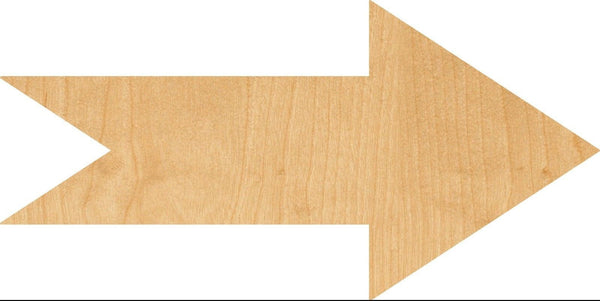 Arrow 1 Wooden Laser Cut Out Shape - Great for Crafting - Hobbyist - D.I.Y. Projects