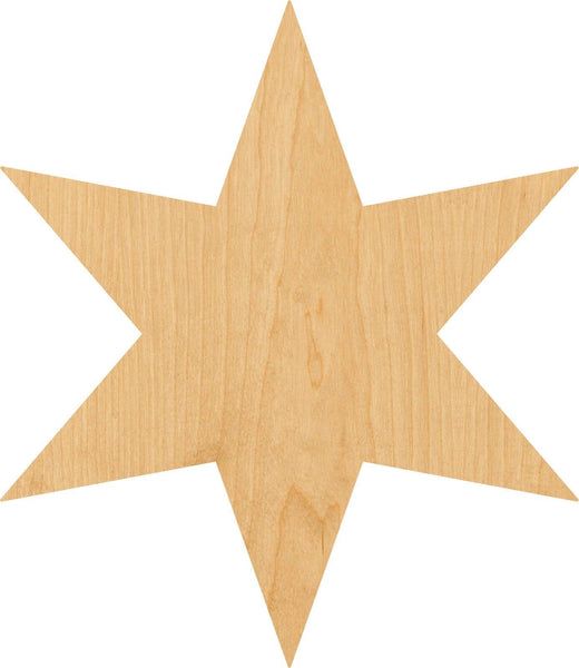 Six Wooden Laser Cut Out Shape - Great for Crafting - Hobbyist - D.I.Y. Projects