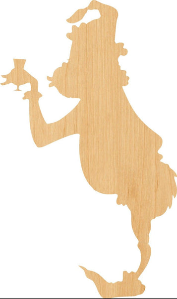 Grinch Wooden Laser Cut Out Shape - Great for Crafting - Hobbyist - D.I.Y. Projects