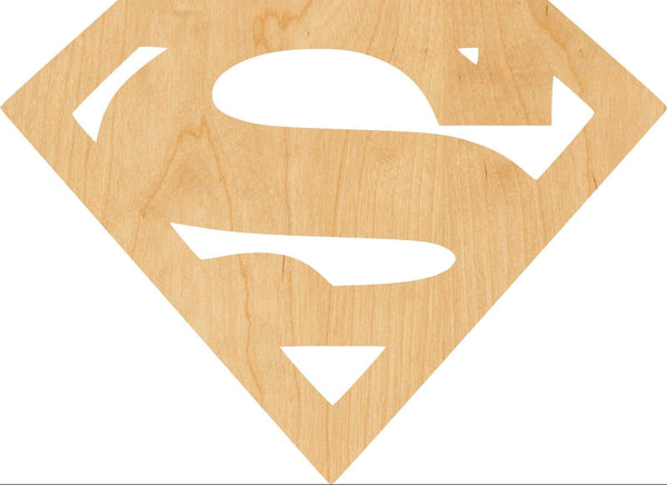 Super Man Wooden Laser Cut Out Shape - Great for Crafting - Hobbyist - D.I.Y. Projects