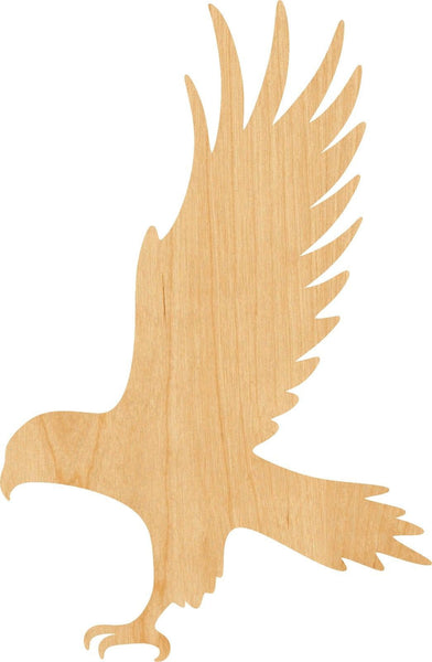 Hawk Wooden Laser Cut Out Shape - Great for Crafting - Hobbyist - D.I.Y. Projects