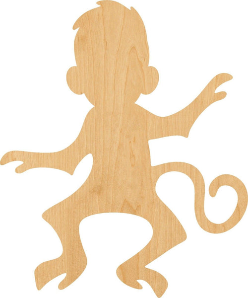 Monkey 2 Wooden Laser Cut Out Shape - Great for Crafting - Hobbyist - D.I.Y. Projects