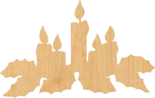 Christmas Holly Wooden Laser Cut Out Shape - Great for Crafting - Hobbyist - D.I.Y. Projects