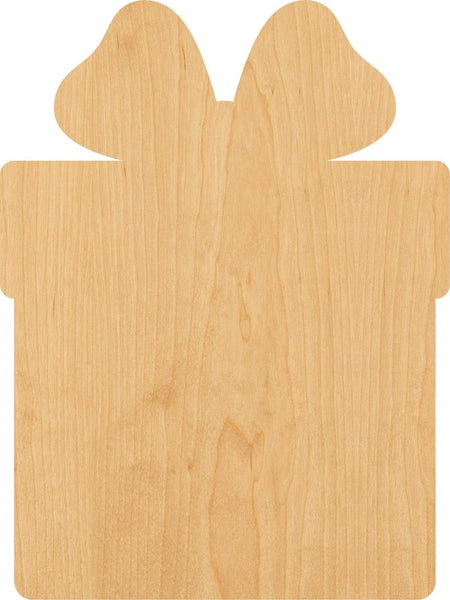 Christmas Present Wooden Laser Cut Out Shape - Great for Crafting - Hobbyist - D.I.Y. Projects
