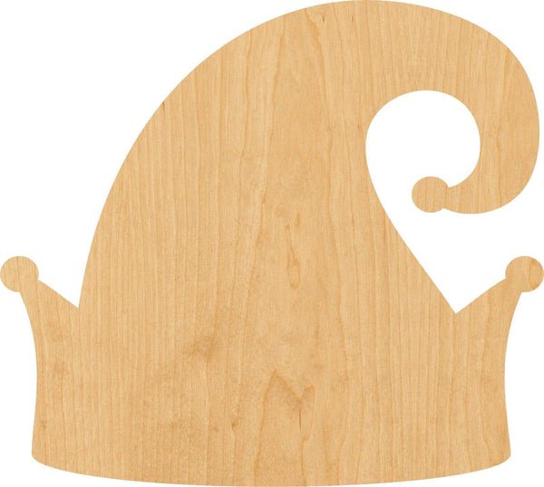 Elf Hat Wooden Laser Cut Out Shape - Great for Crafting - Hobbyist - D.I.Y. Projects