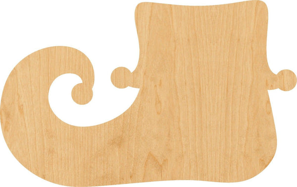 Elf Shoe Wooden Laser Cut Out Shape - Great for Crafting - Hobbyist - D.I.Y. Projects