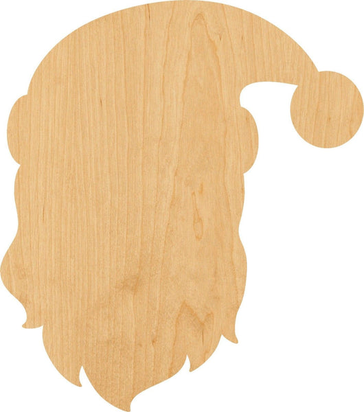 Santa Claus Wooden Laser Cut Out Shape - Great for Crafting - Hobbyist - D.I.Y. Projects
