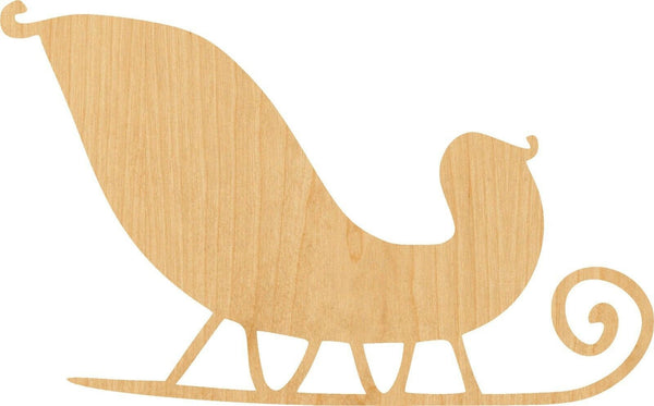 Santa Sleigh 2 Wooden Laser Cut Out Shape - Great for Crafting - Hobbyist - D.I.Y. Projects