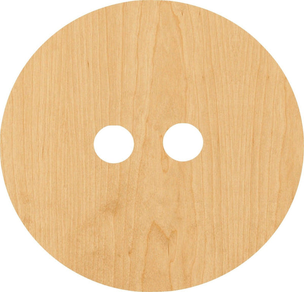 Button 1 Wooden Laser Cut Out Shape - Great for Crafting - Hobbyist - D.I.Y. Projects