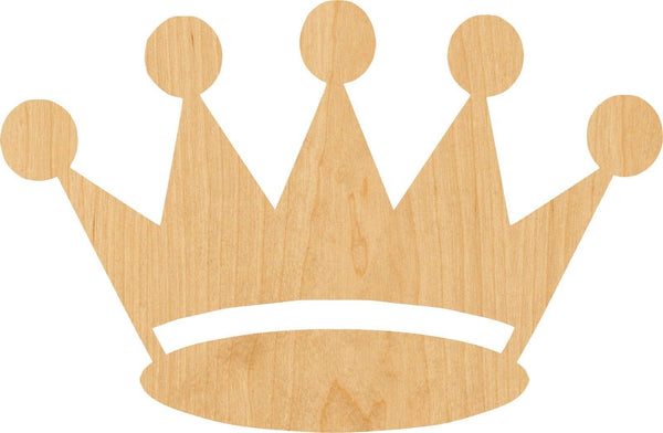 Crown 3 Wooden Laser Cut Out Shape - Great for Crafting - Hobbyist - D.I.Y. Projects