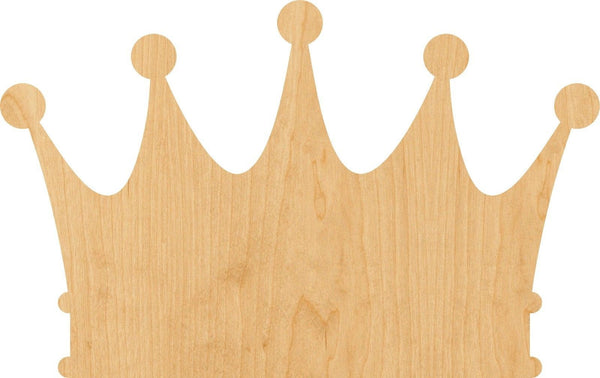 Crown 4 Wooden Laser Cut Out Shape - Great for Crafting - Hobbyist - D.I.Y. Projects