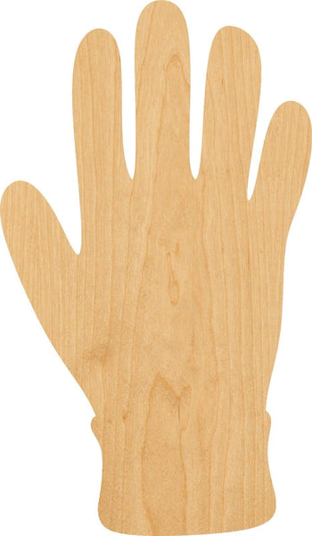 Glove Wooden Laser Cut Out Shape - Great for Crafting - Hobbyist - D.I.Y. Projects