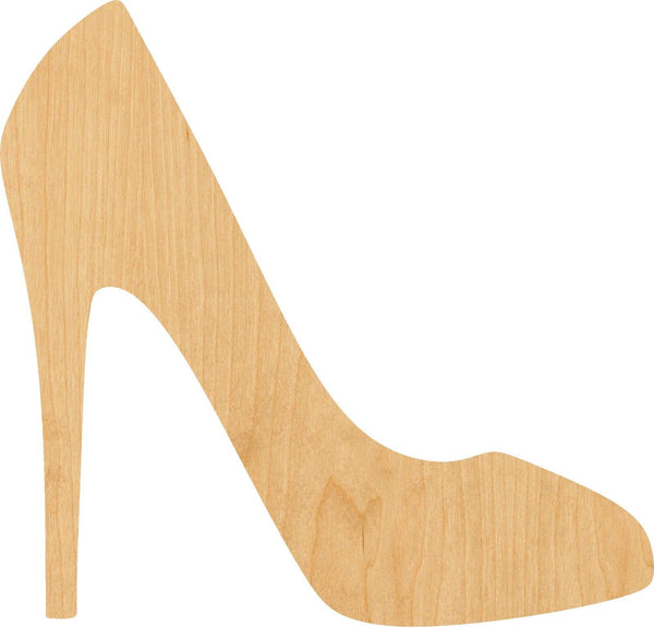 High Heel Shoe 2 Wooden Laser Cut Out Shape - Great for Crafting - Hobbyist - D.I.Y. Projects