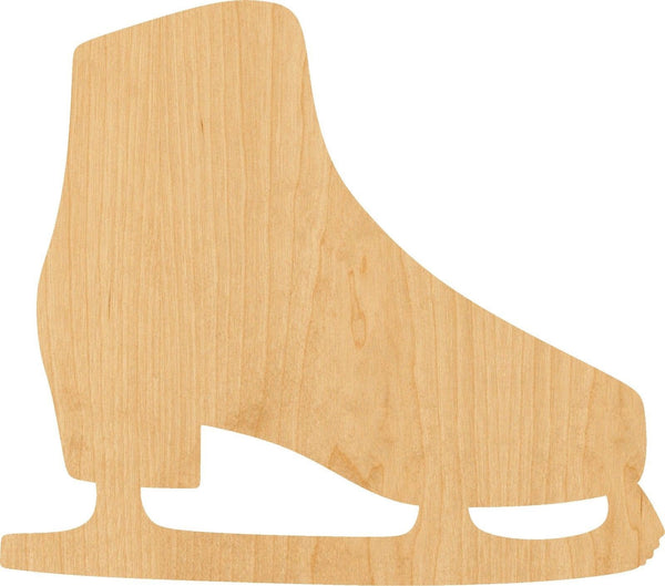 Ice Skate Wooden Laser Cut Out Shape - Great for Crafting - Hobbyist - D.I.Y. Projects