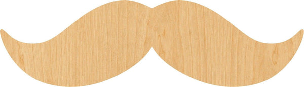 Mustache Wooden Laser Cut Out Shape - Great for Crafting - Hobbyist - D.I.Y. Projects