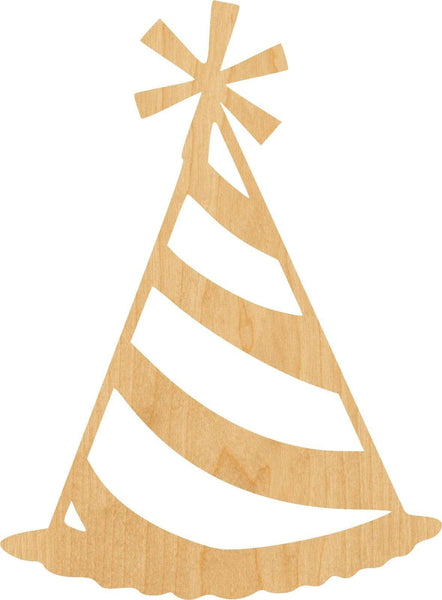 Party Hat Wooden Laser Cut Out Shape - Great for Crafting - Hobbyist - D.I.Y. Projects