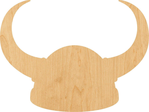 Viking Helmet Wooden Laser Cut Out Shape - Great for Crafting - Hobbyist - D.I.Y. Projects
