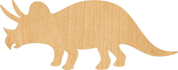 Triceratops Wooden Laser Cut Out Shape - Great for Crafting - Hobbyist - D.I.Y. Projects