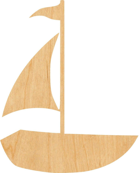 Sail Boat 1 Wooden Laser Cut Out Shape - Great for Crafting - Hobbyist - D.I.Y. Projects