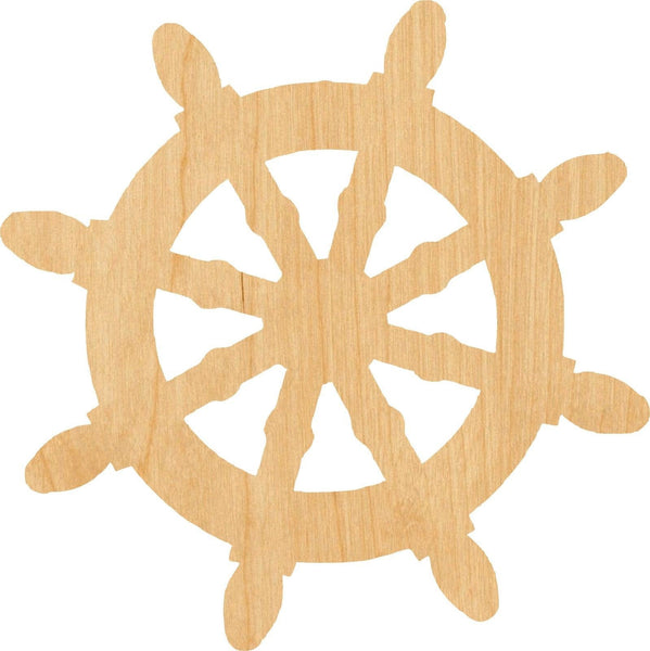 Ship Wheel 1 Wooden Laser Cut Out Shape - Great for Crafting - Hobbyist - D.I.Y. Projects