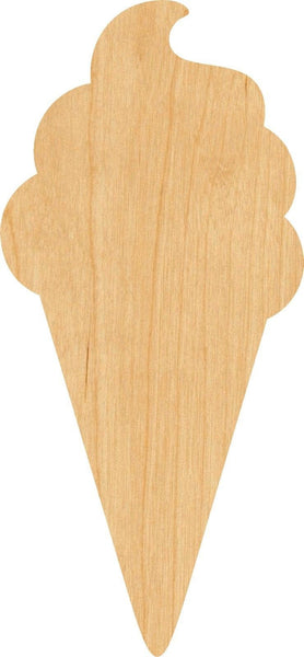 Ice Cream 2 Wooden Laser Cut Out Shape - Great for Crafting - Hobbyist - D.I.Y. Projects