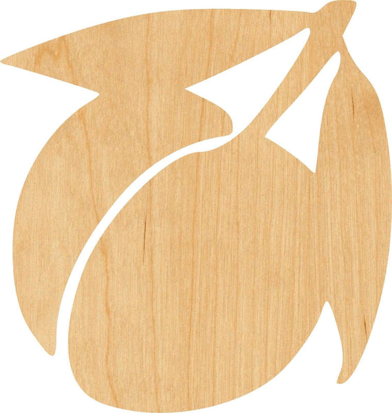 Peach 1 Wooden Laser Cut Out Shape - Great for Crafting - Hobbyist - D.I.Y. Projects