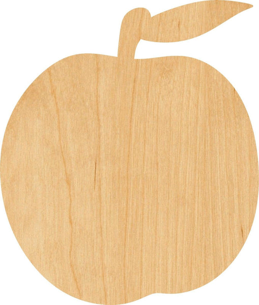 Peach 2 Wooden Laser Cut Out Shape - Great for Crafting - Hobbyist - D.I.Y. Projects