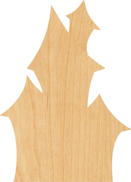 Haunted House Wooden Laser Cut Out Shape - Great for Crafting - Hobbyist - D.I.Y. Projects