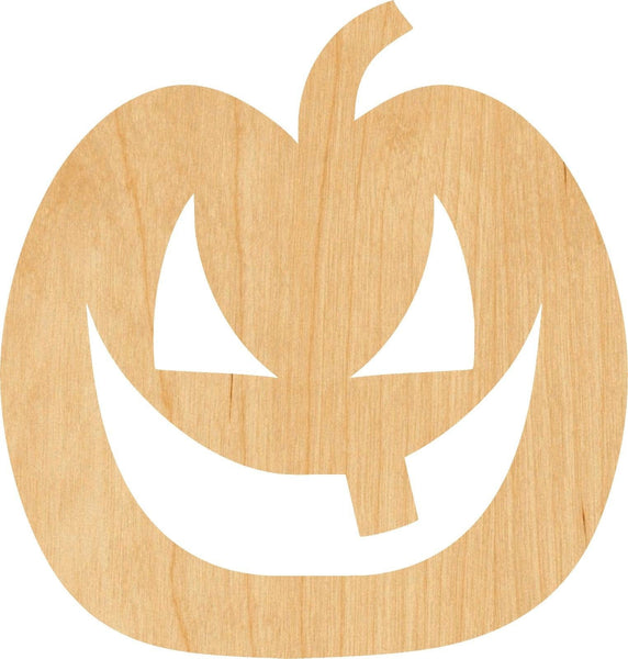 Jack O Lantern 3 Wooden Laser Cut Out Shape - Great for Crafting - Hobbyist - D.I.Y. Projects