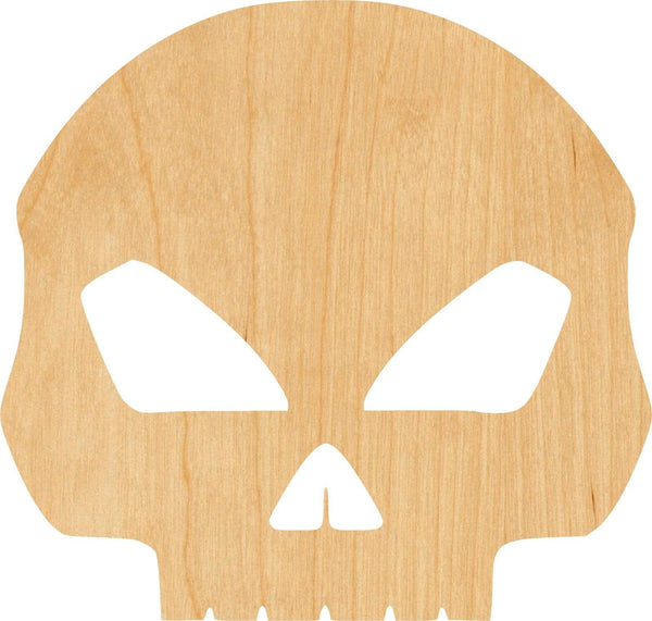 Skull Wooden Laser Cut Out Shape - Great for Crafting - Hobbyist - D.I.Y. Projects