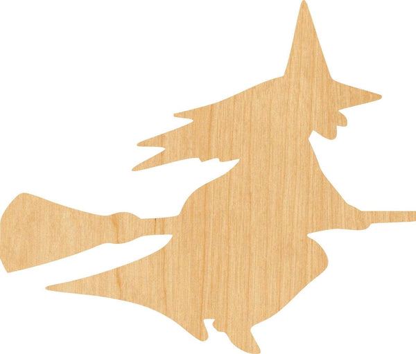 Witch 3 Wooden Laser Cut Out Shape - Great for Crafting - Hobbyist - D.I.Y. Projects