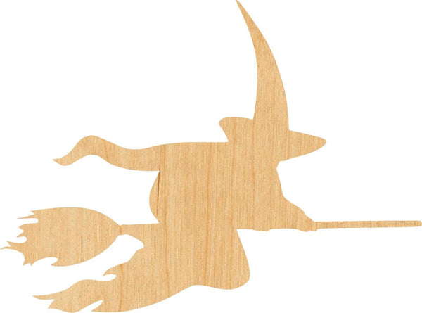 Witch 4 Wooden Laser Cut Out Shape - Great for Crafting - Hobbyist - D.I.Y. Projects