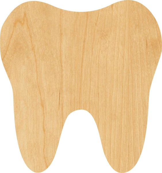 Tooth Wooden Laser Cut Out Shape - Great for Crafting - Hobbyist - D.I.Y. Projects