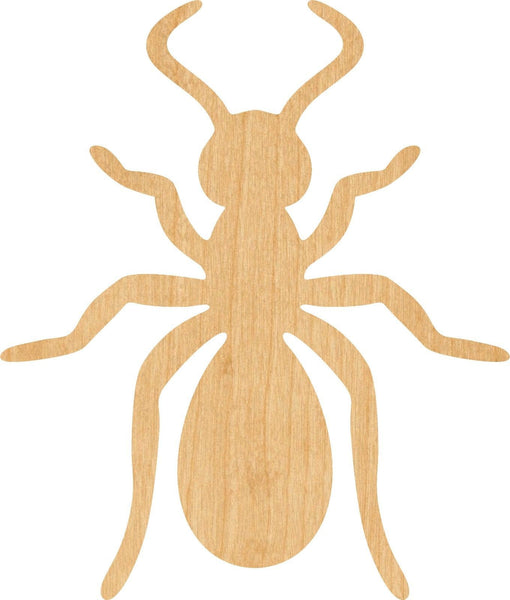 Ant Wooden Laser Cut Out Shape - Great for Crafting - Hobbyist - D.I.Y. Projects