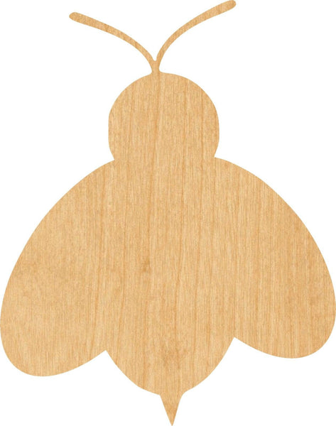 Bee 1 Wooden Laser Cut Out Shape - Great for Crafting - Hobbyist - D.I.Y. Projects